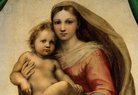 Raffaello, Madonna Sistina (particolare) (1513-14)