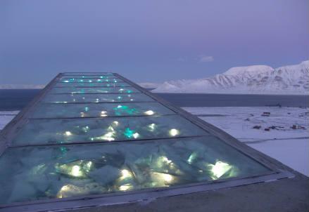 Il deposito internazionale di sementi a Longyearbyen (Svalbard). Credit: Mari Tefre