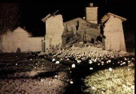 Chiesa di San Salvatore a Campi di Norcia (terremoto, dal web)