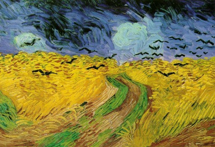 Vincent Van Gogh, Campo di grano con corvi (particolare) (1890)