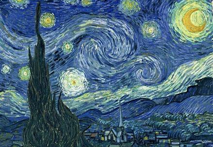 Van Gogh, Notte stellata (1889)