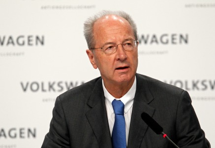 Il presidente di Volkswagen Hans Dieter Pötsch