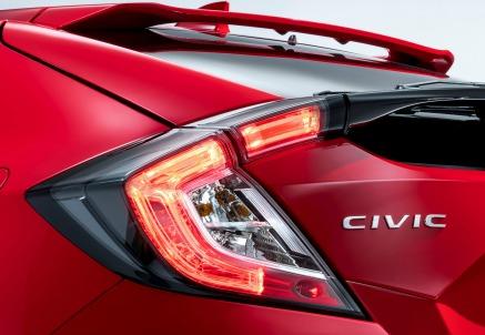 Un particolare della nuova Honda Civic 5 porte