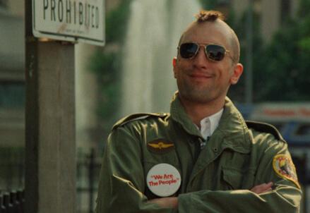 Una scena del film Taxi Driver