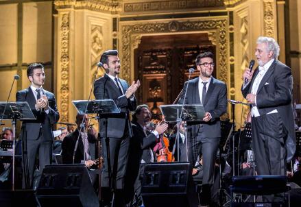 Il Volo/ Concerto su Canale 5: 'Nessun dorma' apre il tributo (Una notte magica, oggi 11 ottobre 2016)