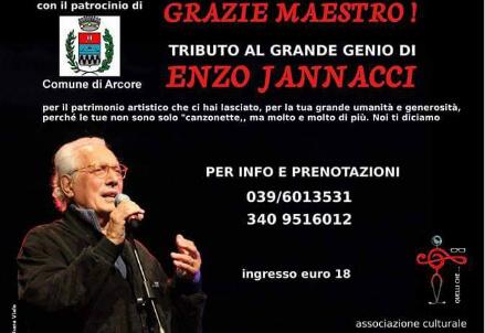 """ENZO JANNACCI/ Torna """"Grazie Maestro"""", lo spettacolo tributo il 2 dicembre ad Arcore"""