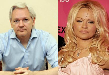 Julian Assange e Pamela Anderson