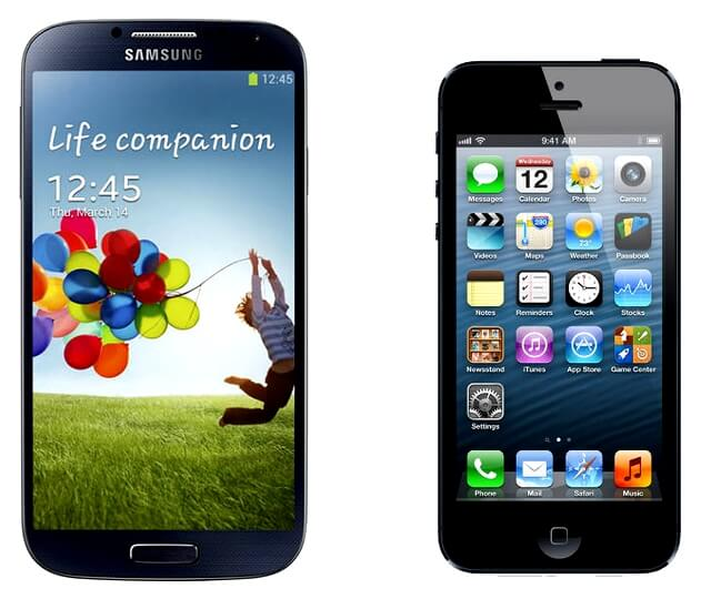iPhone 5 e Galaxy S4