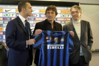 Con Leonardo in panchina l'Inter ha vinto l'ultima edizione di Coppa Italia (foto Infophoto)
