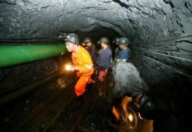 Una galleria in miniera